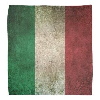 Bandera apenada vintage de Italia Bandanas