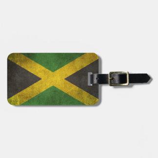 Bandera apenada vintage de Jamaica Etiquetas Maleta