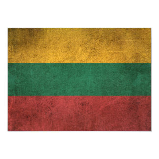 Bandera apenada vintage de Lituania Invitación 12,7 X 17,8 Cm