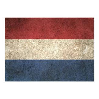 """Bandera apenada vintage de los Países Bajos Invitación 5"""" X 7"""""""