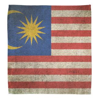 Bandera apenada vintage de Malasia Bandana