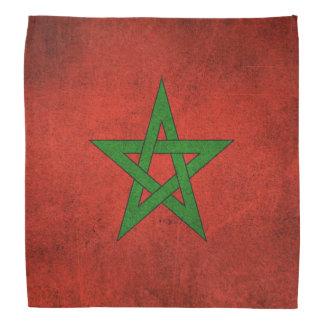 Bandera apenada vintage de Marruecos Bandanas