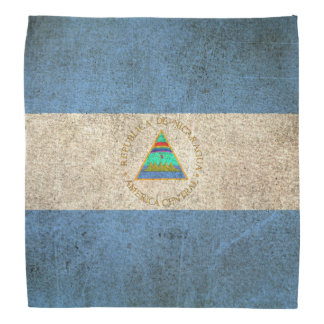 Bandera apenada vintage de Nicaragua Bandana