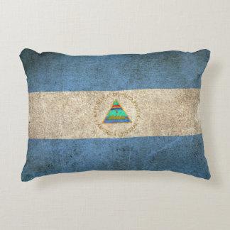 Bandera apenada vintage de Nicaragua Cojín