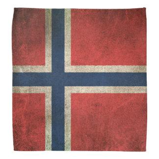 Bandera apenada vintage de Noruega Bandana