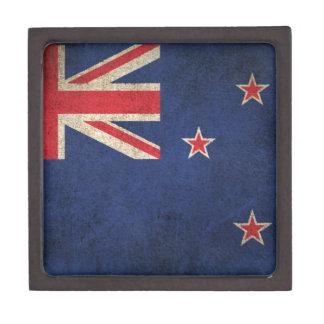 Bandera apenada vintage de Nueva Zelanda Caja De Recuerdo De Calidad