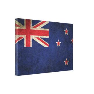 Bandera apenada vintage de Nueva Zelanda Impresiones En Lona Estiradas