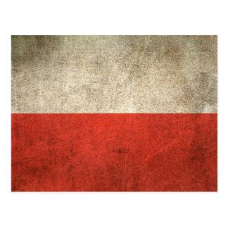Bandera apenada vintage de Polonia Tarjetas Postales