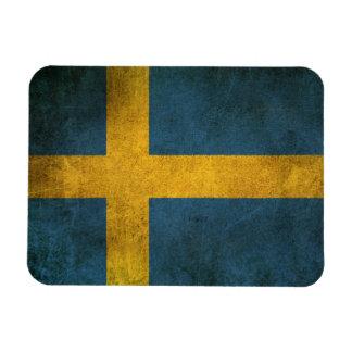Bandera apenada vintage de Suecia Iman De Vinilo