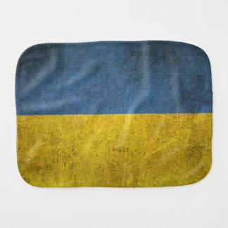 Bandera apenada vintage de Ucrania Paños Para Bebé