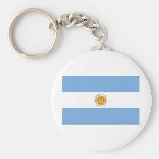 Bandera AR de la Argentina Llavero Redondo Tipo Pin