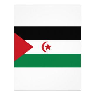 Bandera árabe de la república Democratic de Membrete