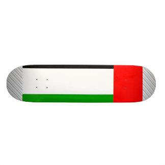 Bandera árabe de los emiratos tabla de patinar