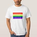 Bandera arcoiris mensaje remeras