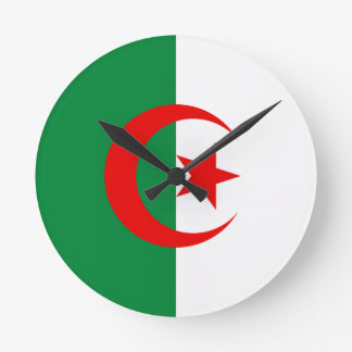 Bandera argelina reloj redondo mediano