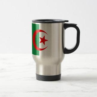 Bandera argelina taza de viaje