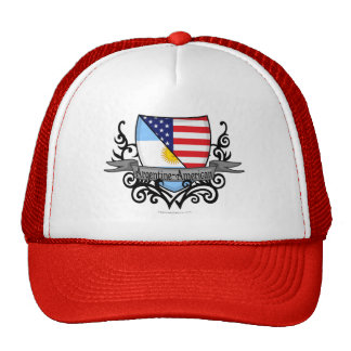 Bandera Argentina-Americana del escudo Gorras De Camionero