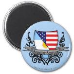 Bandera Argentina-Americana del escudo Imán Para Frigorifico