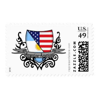 Bandera Argentina-Americana del escudo