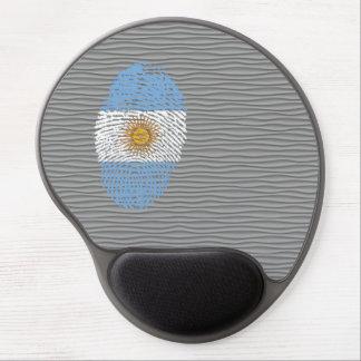 Bandera argentina de la huella dactilar del tacto alfombrilla gel