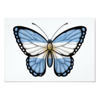 """Bandera argentina de la mariposa invitación 3.5"""" x 5"""""""