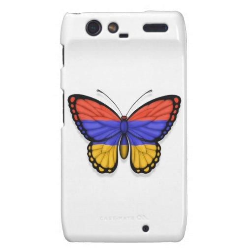 Bandera armenia de la mariposa droid RAZR carcasas