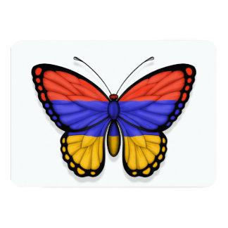 """Bandera armenia de la mariposa invitación 5"""" x 7"""""""