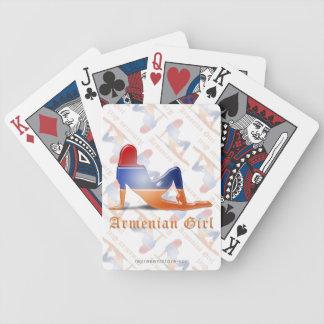Bandera armenia de la silueta del chica barajas