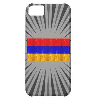Bandera armenia de madera funda para iPhone 5C
