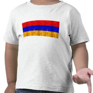 Bandera armenia de madera camisetas