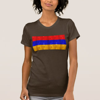 Bandera armenia de madera camiseta