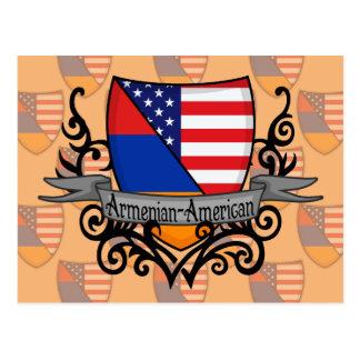 Bandera Armenio-Americana del escudo Postales