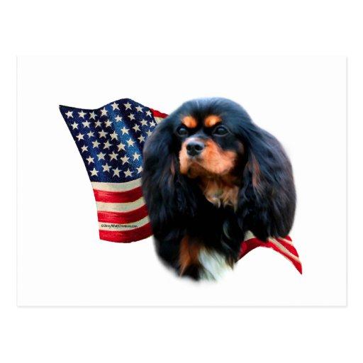 Bandera arrogante del perro de aguas de rey postal