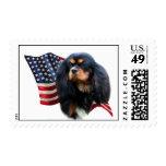Bandera arrogante del perro de aguas de rey sello