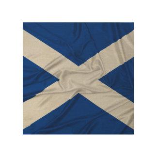 Bandera arrugada de Escocia Impresiones En Madera