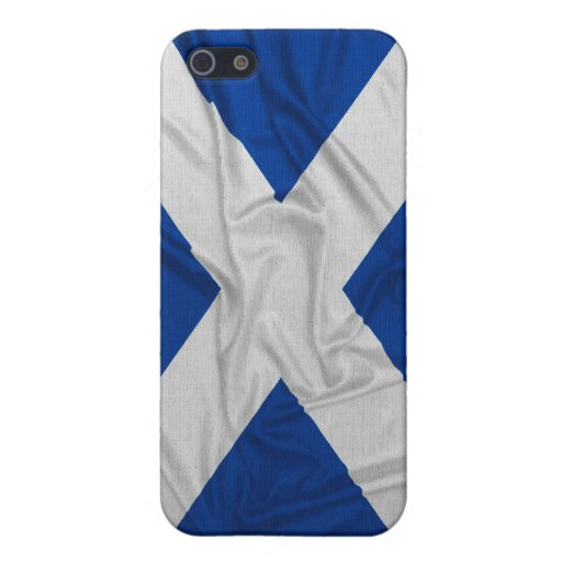 Bandera arrugada de Escocia iPhone 5 Carcasas