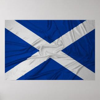 Bandera arrugada de Escocia Póster