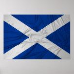 Bandera arrugada de Escocia Posters