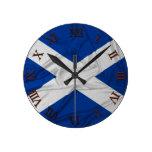 Bandera arrugada de Escocia Relojes