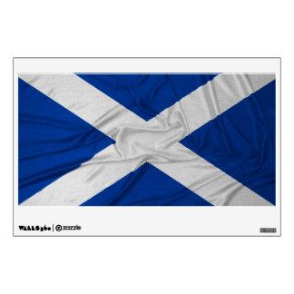Bandera arrugada de Escocia Vinilo Adhesivo