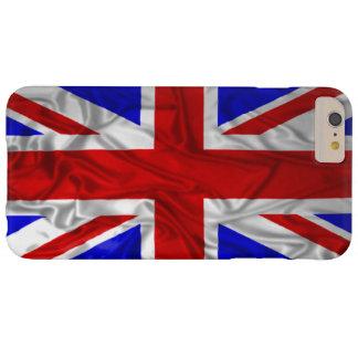 Bandera arrugada de Union Jack Funda De iPhone 6 Plus Barely There