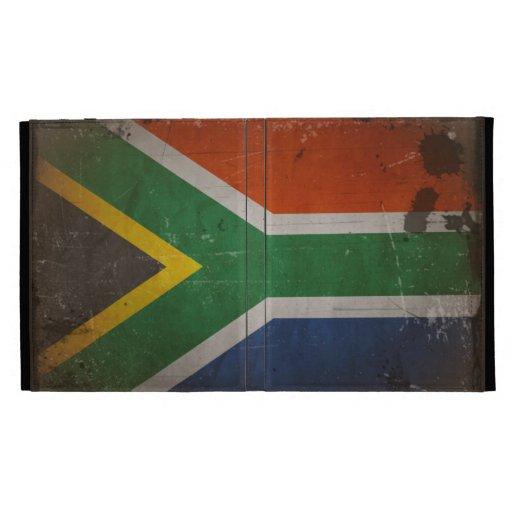 Bandera artística de Suráfrica del Grunge del vint