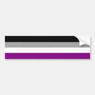 Bandera asexual del orgullo etiqueta de parachoque