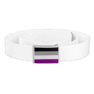Bandera asexual del orgullo correa
