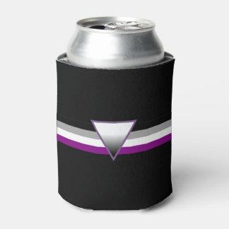 Bandera asexual del orgullo enfriador de latas