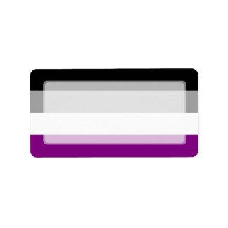 Bandera asexual del orgullo etiqueta de dirección