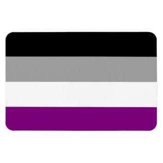 Bandera asexual del orgullo imán foto rectangular