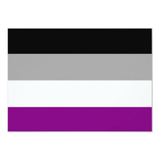 """Bandera asexual del orgullo invitación 5"""" x 7"""""""