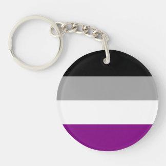 Bandera asexual del orgullo llaveros