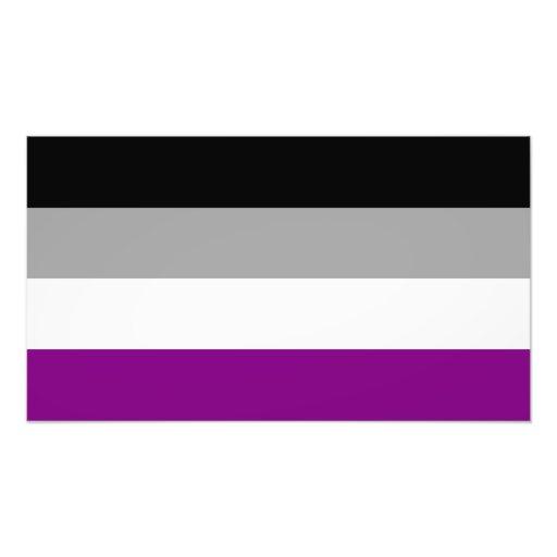 Bandera asexual del orgullo fotografías